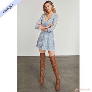 [BCBG] Blue Jayde Embroidered Lace Dress